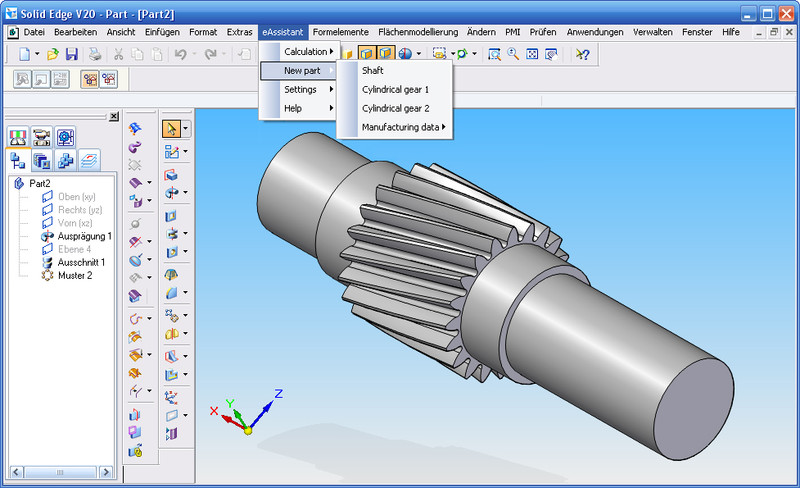 GWJ eAssistant: CAD Plugin for Solid Edge