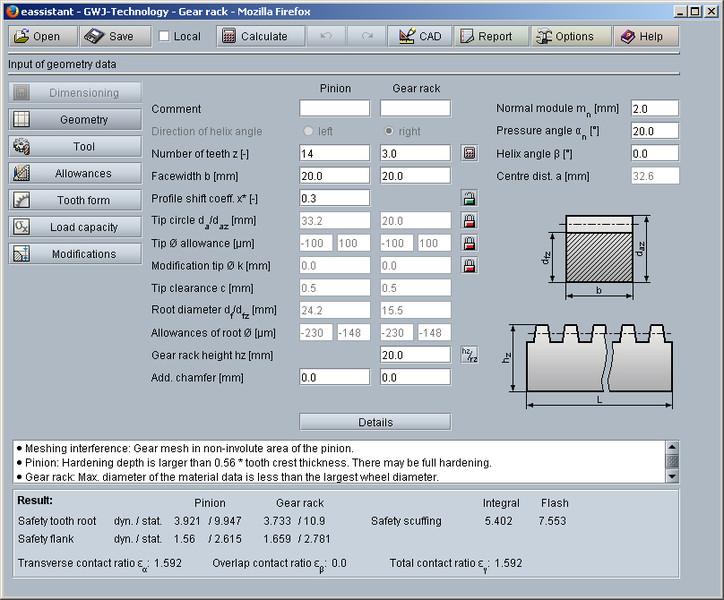 Gear Rack With Rectangular Profile